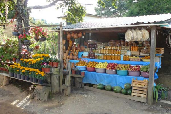 Fruit stall in the mountains